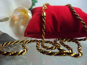 Gargantilha Jewelry Cordão Gold Com Fio Preto