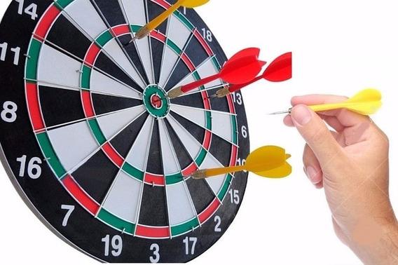 Jogo Dardos Tabuleiro 2em1 Dupla Face 38cm Presente Adulto