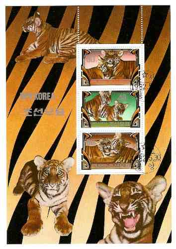 Fauna. Felinos Salvajes. Serie Compl 3 Valores H Block 1982