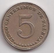 Panama Moneda De 5 Centesimos Año 1962 !!!