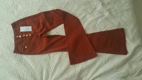 Calça De Sarja Setenta Color De Botão Espaço Fashion
