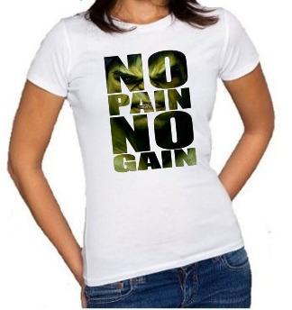Baby Look Hulk No Pain No Gain Feminina Camiseta