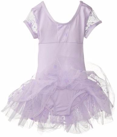 Tb Tutu Capezio Girls Cap-sleeve Tutu Dress Lavender