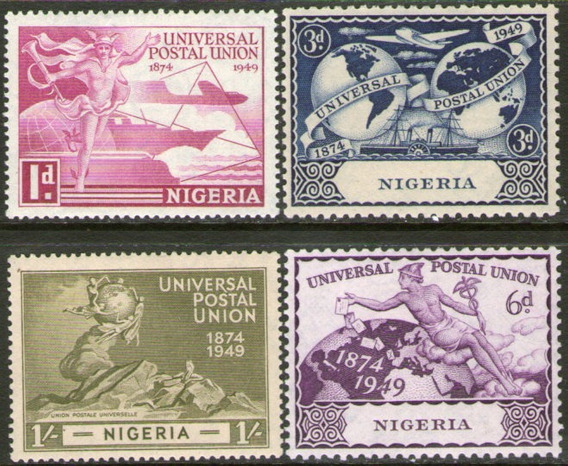 Nigeria Serie Completa X 4 Sellos Mint U. P. U. Año 1949