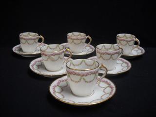 Juego De Cafe Porcelana Francesa Shabby Chic Vajillas Antigu