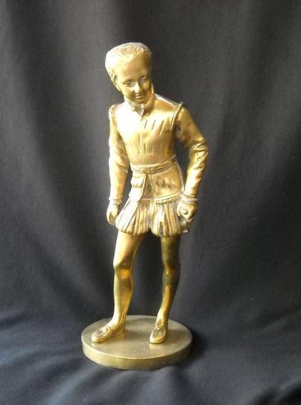 Antigua Figura De Caballero Antiguedad Adorno De Vitrina