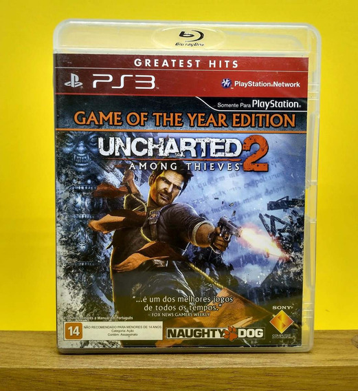 Uncharted 2 Ps3 - Mídia Física   Com Garantia Playgorila