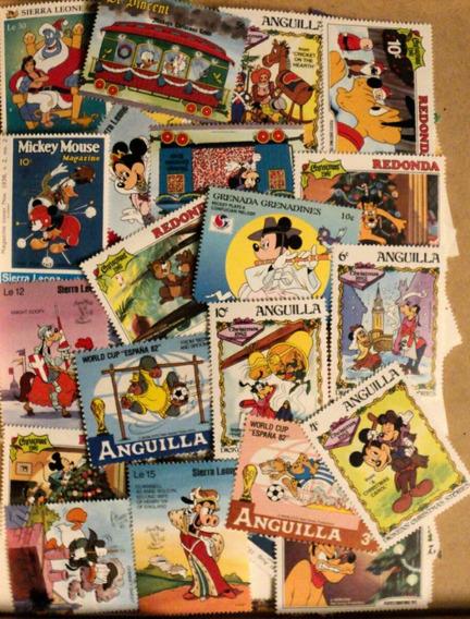 Walt Disney - 100 Estampillas Diferentes