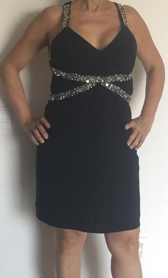 Vendo Hermoso Vestido Corto Negro Talla M Poco Uso!!