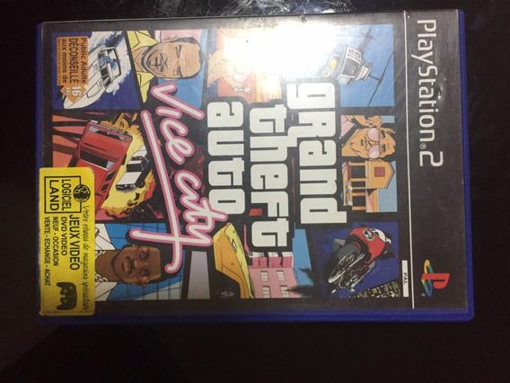 Jogo Ps2 Grand Theft Auto Vice City Original Gta