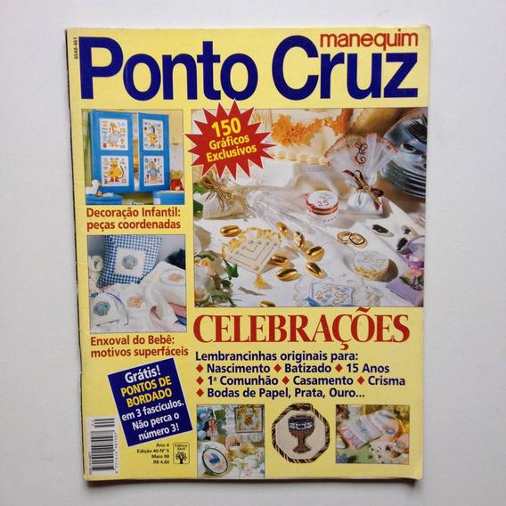 Revista Manequim Ponto Cruz Enxoval Do Bebê B128