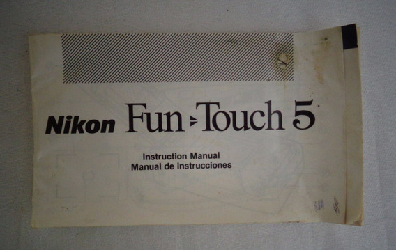 Nikon Câmera Folheto Instruções Fun Touch 5