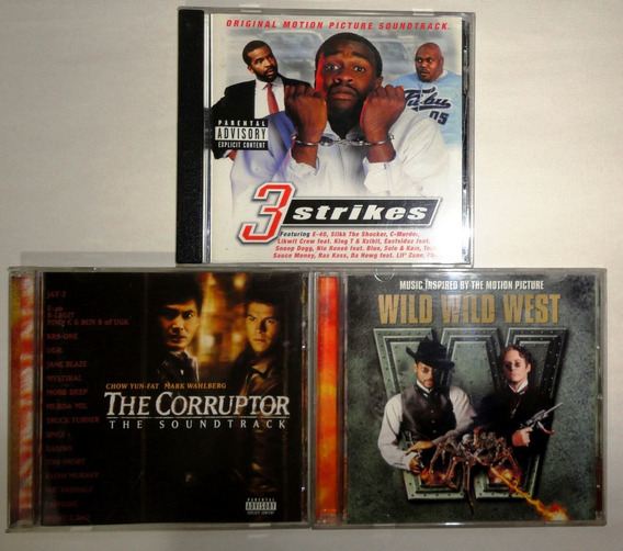 Hip Hop The Corruptor, Wild Wild West, 3 Strikes Lote 3 Cds