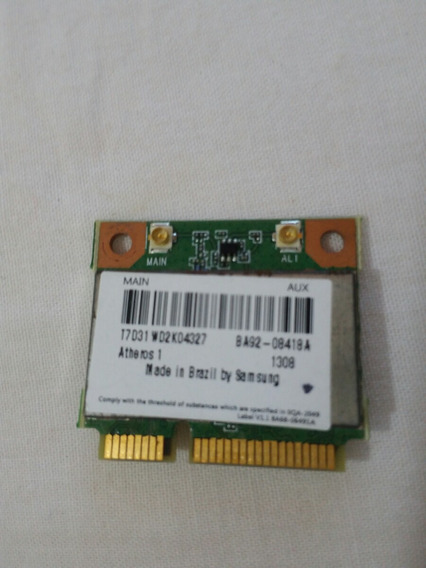 Placa Wireless Notebook Samsung Np300/ Ba92-08418a
