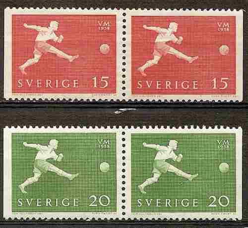 Suecia Serie Yv 429b/0b Se Tenant Mint