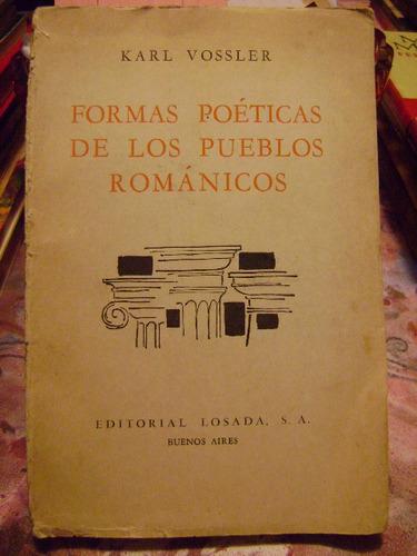 Formas Poeticas De Los Pueblos Romanticos Karl Vossler