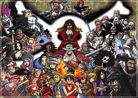 One Piece Poster 60x84cm Anime Mangá Decorar Casa Quarto