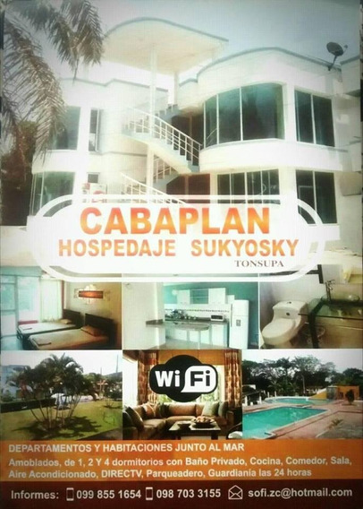 Alquiler O Arriendo Departamentos Playa Tonsupa Cabaplan