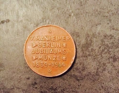 Moeda Antiga Alemã, Manheimer Berlin Jubilaums 1839-1914
