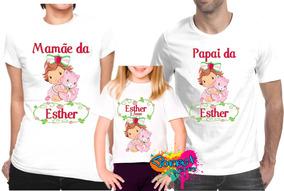 69f6ebcff3 Camiseta Moranguinho Baby - Camisetas no Mercado Livre Brasil