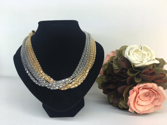 Collar Moda Vintage Cadena Oro/plata