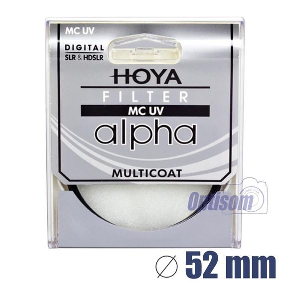 Filtro Hoya Uv Multi Camada Alpha 52mm - Temos Loja