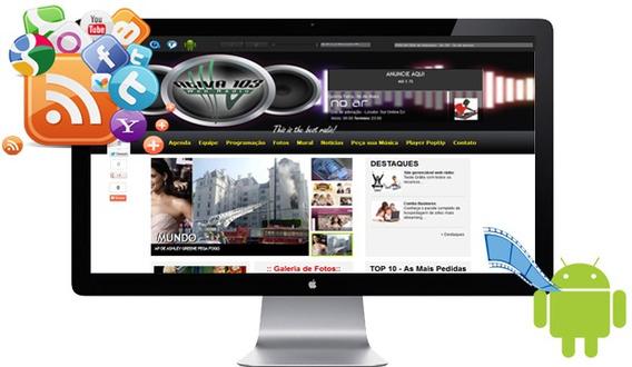 Web Rádio + Site Adminstravel + Hospedagem E App Android
