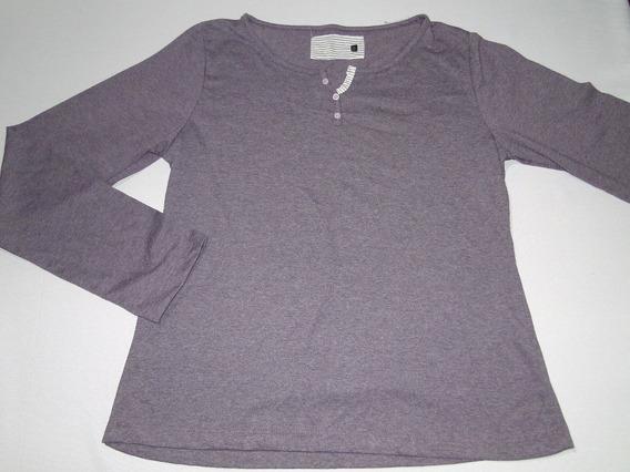 Blusa Pijama Com Detalhe Botoes Tam M,g