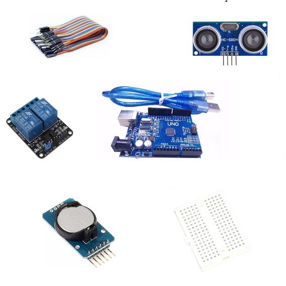 Kit Placas Para Arduino Uno +sensor+ Time Clock+ Relé+ Cabos