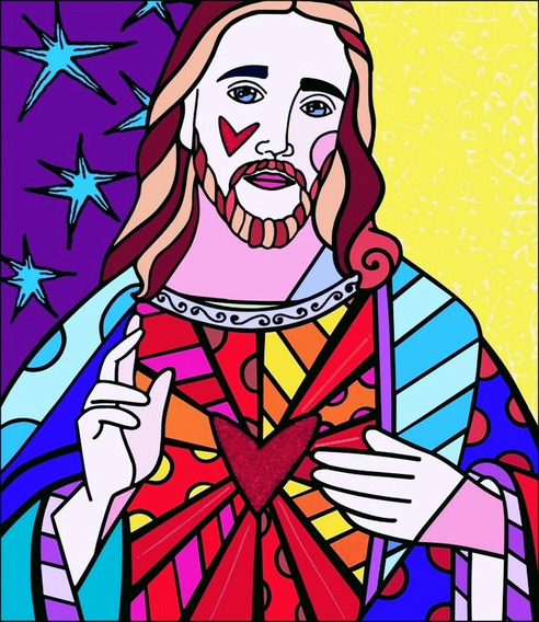 Poster Para Quadro Britto 60x70cm Obra Jesus P/ Decorar Casa