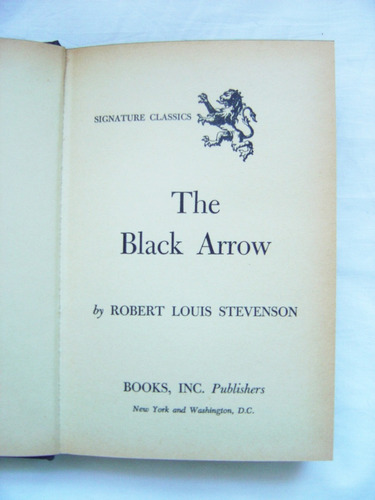 Libro En Inglés: The Black Arrow / Stevenson