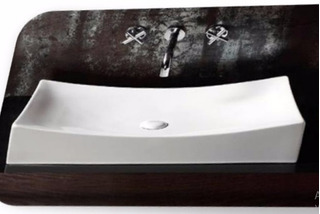 Bacha De Loza Porcelana Blanca Str4145 (de Apoyo) Naffull