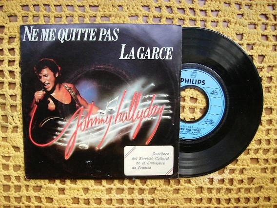 Johnny Hallyday / Ne Me Quitte Pas - Simple Con Tapa Francia
