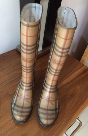 Botas De Lluvia Burberry Mujer Usadas 37