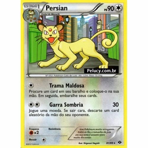 Persian - Pokémon Normal Raro - 81/99 - Bw Próximos Destinos