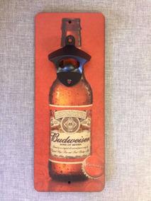 Abridor De Garrafas De Parede Budweiser