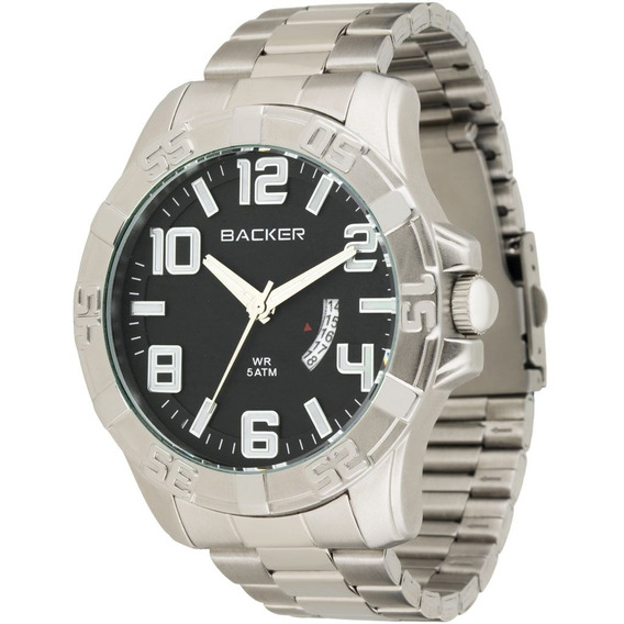 Relógio Masculino Analógico Com Calendário Backer 3510223m P