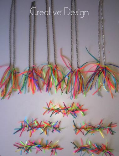 Collares De Colores Cotillón Accesorios Fiestas Fluor Mercado Libre