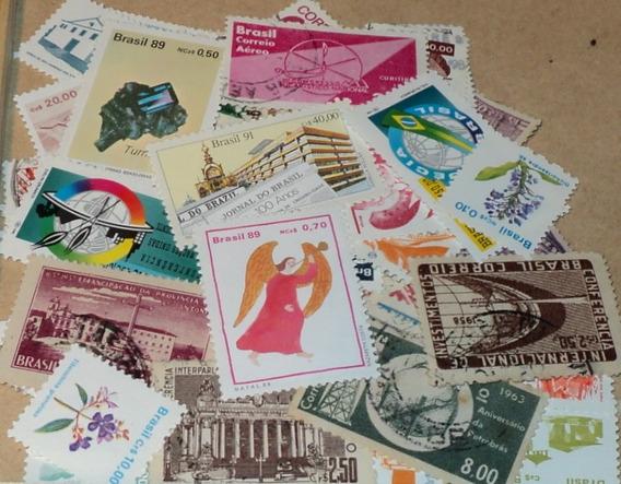 Estampillas De Brasil 100 Sellos Diferentes Sin Papel