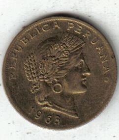 Peru Moneda De 20 Centavos Año 1963 !!!