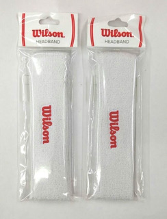 Pack De 2 Bandas Para Cabeza Blancas Absorventes Wilson