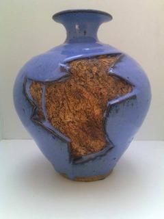 Jarron Florero Ceramica Arte Diseño D Estudio Firmado Usa