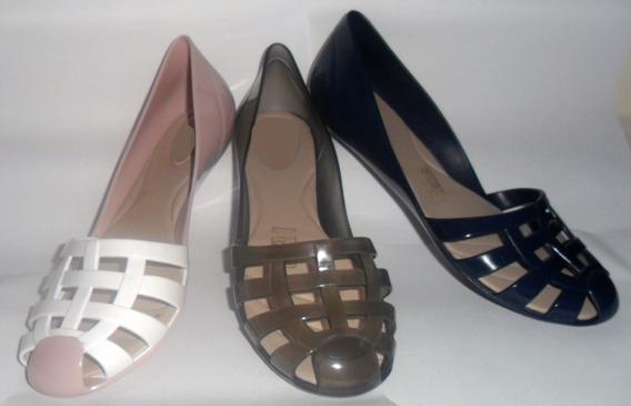 Sapatilhas Plásticas - Azul Marinho E Rosa/branco