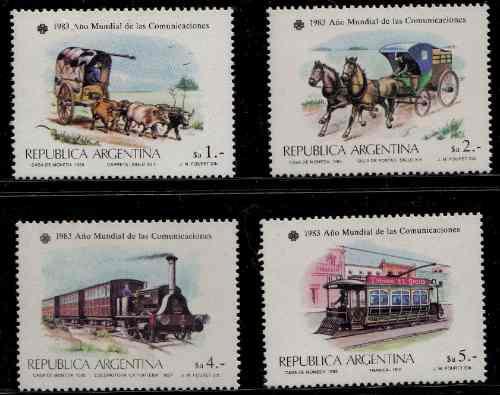 Argentina 1983 Serie De Sellos Mello N° 1434 / 1437 Nuevos