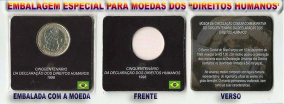 Moeda Comemorativa Aos 50 Anos Dos Direitos Humanos.