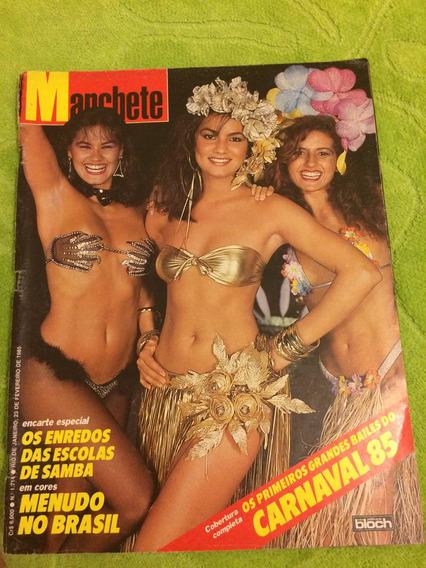 Manchete Carnaval 85 Magda C Luiza Musas Menudos Cartum Henf
