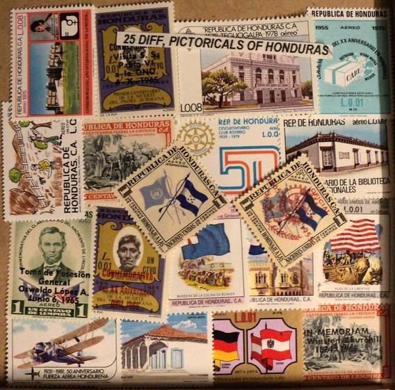Estampillas De Honduras 100 Sellos Diferentes Sin Papel