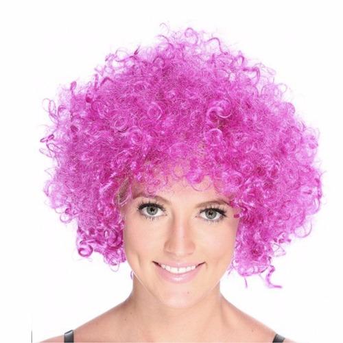¡ Peluca Afro Púrpura Fantasía Fiesta Halloween Hora Loca !!