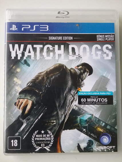 Watch Dogs Signature Edition Ps3 M. Física Dublado Perfeito