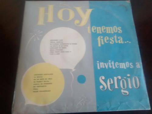 Vinilo Lp De Sergio Pfeiffer - Hoy Tenemos Fiesta  (u1304